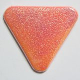 角丸三角形缶バッジ オーロラ・オレンジ(紙)